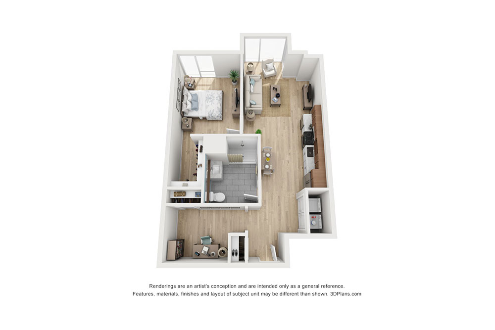 1 Bedroom Den B image