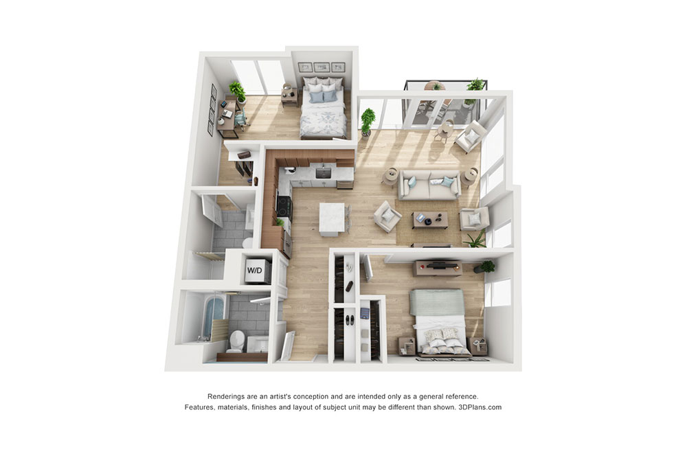 2 Bedroom D image